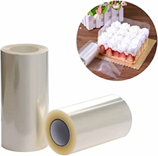 RAYNAG Set of 2 Cake Collar,Chocolate Mousse Cake Decorating Acetate Sheet Roll Baking Surrounding Edge Tape