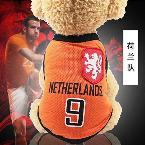 UD-strap NBA Jersey Dog Camicia Coppa del Mondo Cane Vestiti per Cani di Piccola Taglia Estate Chihuahua Tshirt Cucciolo Gilet Pet Clothes m Sec
