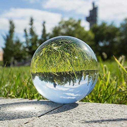 Isincer Glaskugel Fotografie Kugel aus Glas,K9 Kristallkugel,Glas Lensball, Klare Kristallkugel,Crystal Ball Fotografie Dekoration Geschenk für deko/Fotografie/murmeln/Hause (60mm/80mm/100mm)