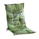 Sesselauflage Sitzpolster Gartenstuhlauflage für Mittellehner | 50 cm x 110 cm | Grün |...