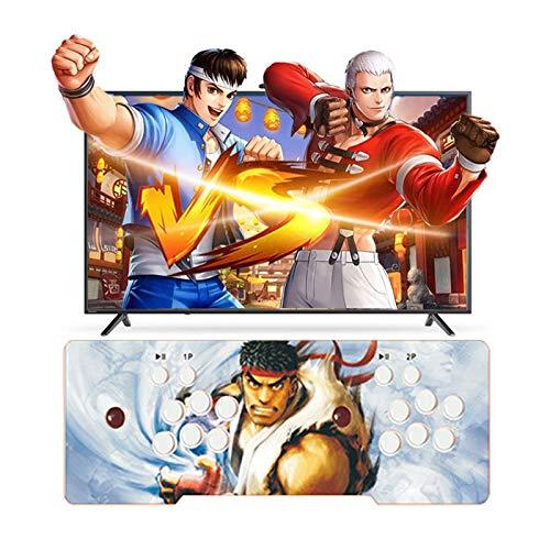 TANCEQI Pandora's Box 12S Arcade Game Console 2323 en 1 TV Juego de Videojuegos, 4 Joystick Partes de la Fuente de alimentación HDMI y VGA y Salida USB
