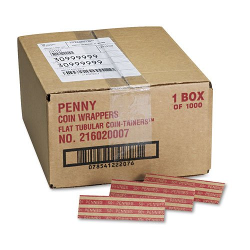 Quality Product By MMF Induries – Flat Coin Wrappers for Pennies 1000 Red