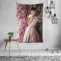 Star Heaven オードリーヘップバーン タペストリー ポスター 壁掛け 布ポスター 背景布 壁飾り インテリア 部屋 ギフト 布製 装飾用品 152×102cm