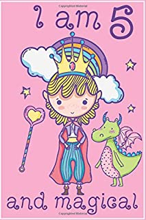 I Am 5 And Magical Notebook: A Fairy Birthday Journal For 5 Year Old Girls | Fairy Birthday Journal Pink Background For 5 Year Old Girls Birthday With ... Journal Notebook For ... Girls | 5 Yea