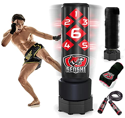 Senshi Japan 6ft Free Standing Punch Bag - Comes With Outdoor Cover, Low...