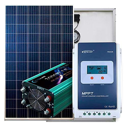 Desconocido Kit Solar 12V / 24V 500W Fotovoltaico - PlusEnergy