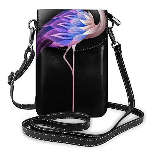 Crossbody - Bolso de hombro para teléfono celular, diseño abstracto de flamenco, pequeño