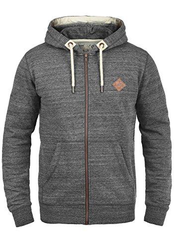 !Solid Craig Herren Sweatjacke Kapuzenjacke Hoodie Mit Kapuze Und Reißverschluss, Größe:S, Farbe:Grey Melange (8236)