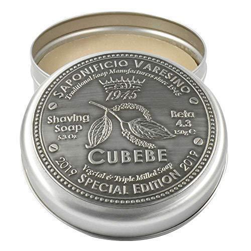Saponificio Varesino Cubebe Edición Especial Duro Jabón para Afeitado 150g Disco