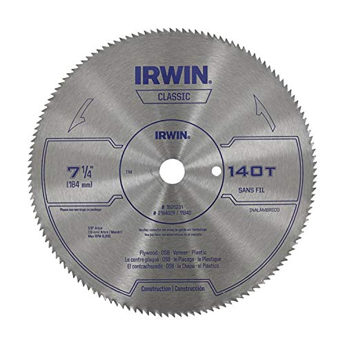 IRWIN Classic 7-1/4-in 140-Tooth Carbon Steel Circular Saw Blade