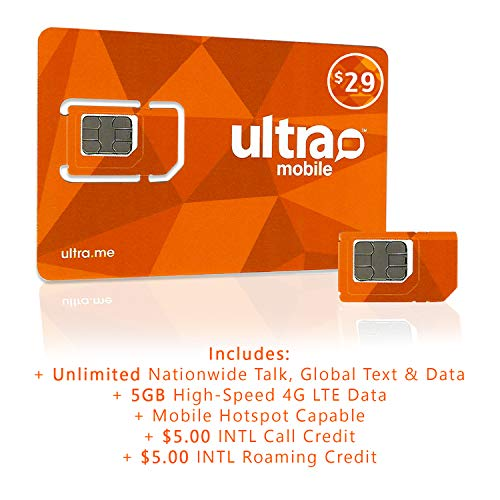 Ultra Mobile $29 International Calling Plan for 3 Months with SIM Card