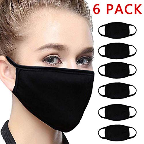 6Pcs Bandana Face Mouth Cover Face Buff Headwear Dust Anti-Pollution Anti-smog, Riding Dustproof Carbon Filters