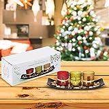 Teelichthalter, Teelichthalter mit 3 Teelichter, Dekoschale mit Kerzen, Tischdekoration, Weihnachtsdekoration, Deko für Geburtstag, Party, Hochzeit, 26cm x 10cm x 8cm - 2