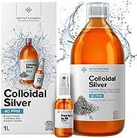 Plata Coloidal Prémium 1000 ml ● 40 ppm ● Óptima Concentración, Partículas más Pequeñas, Mejores Resultados ●...