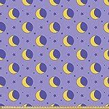 ABAKUHAUS Mond Microfaser Stoff als Meterware, Kinder