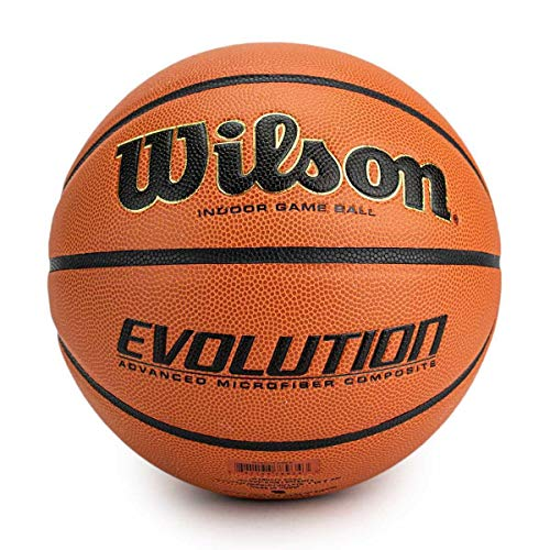 Wilson Unisex-Adult Evolution BSKT EMEA Basketball, Braun, 7