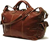 Floto Luggage Venezia Travel Tote, Vecchio Brown, Large