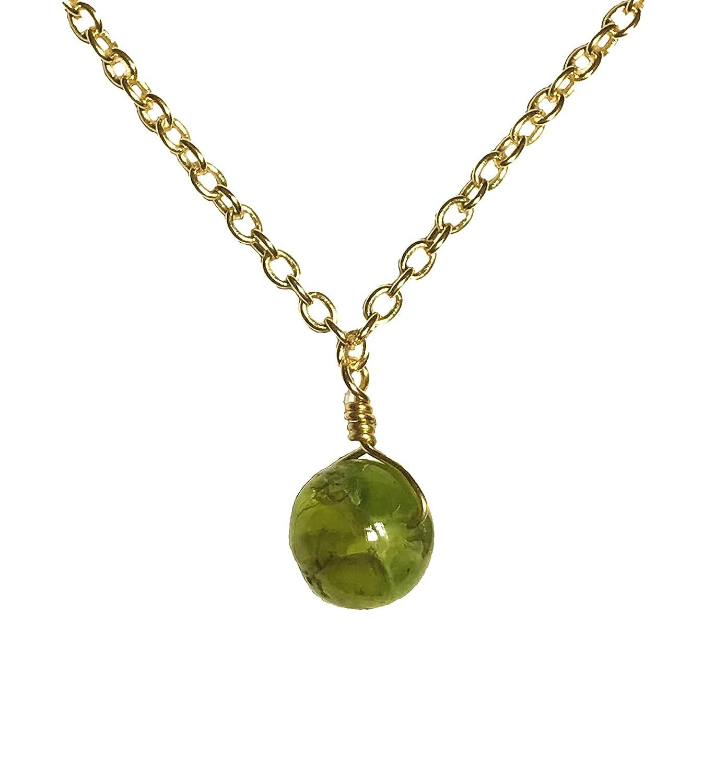 AGIRA Peridot Crystal Necklace Natural Jewel Handmade Gemstone 5% OFF New life