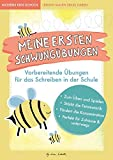 Lustige Schwungübungen - Übungsheft zur Stärkung der Feinmotorik und Konzentration: Vorbereitende Übungen für das Schreiben lernen für Kinder in der ... Übungen für Vorschule und...
