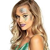 NET TOYS Set de Maquillaje Seis Piezas Sirenita - Azul-Verde - Encantador Maquillaje de Dama Sirena - El Punto Alto para Noches temáticas y Festival