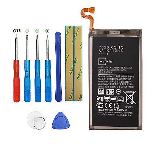 Vvsialeek Batería de repuesto EB-BG960ABE compatible con Samsung Galaxy S9 SM-G960 SM-G960F SM-G960F/DS EB-BG960ABEwith kit de herramientas