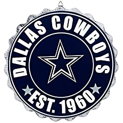 Dallas Cowboys NFL Bottle Cap Wall Sign