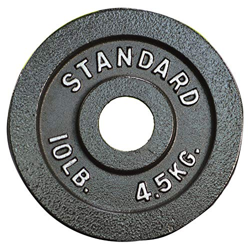 ANBO Barbell Olympic Grip Plate, Cast Iron 2-inch Weight Plate Gray Durable Strength Training Plates for Home Gym Weightlifting Strength Training and Crossfit,45lb