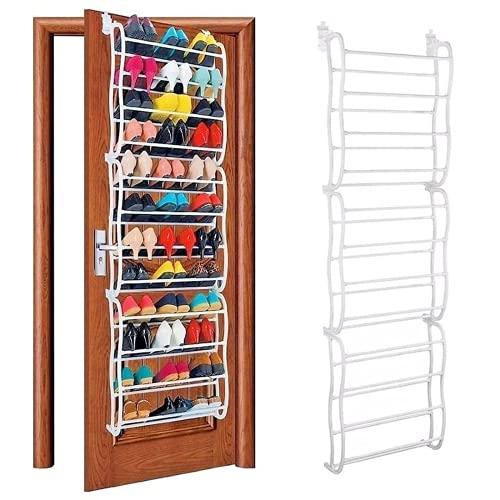 WANZSC 12 capas 36 pares de zapatero puerta colgante zapatero estante estante estante almacenamiento organizador gabinete