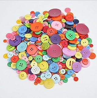 Sweetimesアクセサリーパーツ ボタン 手芸材料セット 工芸品 DIY No.50 (ミックスカラー)