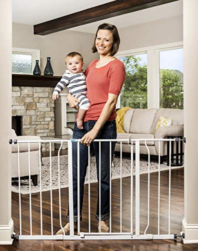 30 Inches Tall Extra Wide  Safety Gate with Walk Thru'