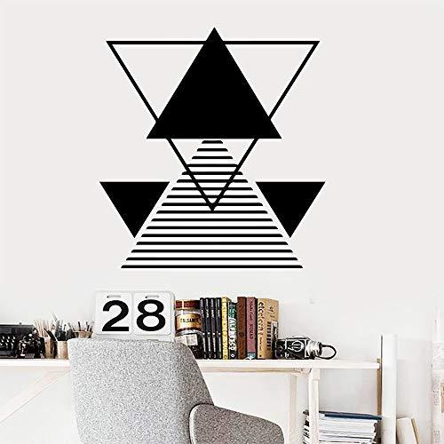 3D-Muster Geometrie Mathe Wandaufkleber für Büro kreative Tapete Wandtattoo Hausdekoration Kinderzimmer Mathe Aufkleber Wand Geometrie A8 XL 58cm X 61cm