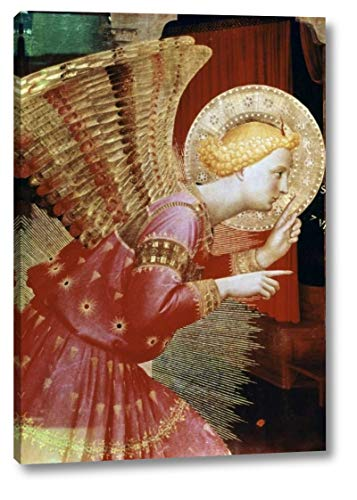 """Angel of The Annunciation - Detail by Fra Angelico - 27"""" x 38"""" Canvas Art Print Gallery Wrapped - Ready to Hang"""