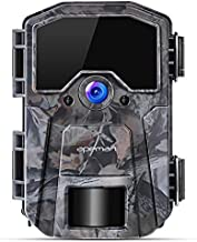 APEMAN Trail Camera 20MP 1080P Wildlife Camera, Night Detection Game Camera with No Glow 940nm IR LEDs, Time Lapse, Timer, IP66 Waterproof Design
