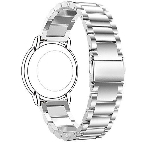 Ersatzuhrenarmband für FossilQ Uhrenarmbänder 22 mm Metallarmband für FossilQ Crewmaster Gen 2 Hybrid/Founder Gen 2 mit Touchscreen/Nate Gen 2 Hybrid/Wander Gen 2 Touchscreen Smartwatch