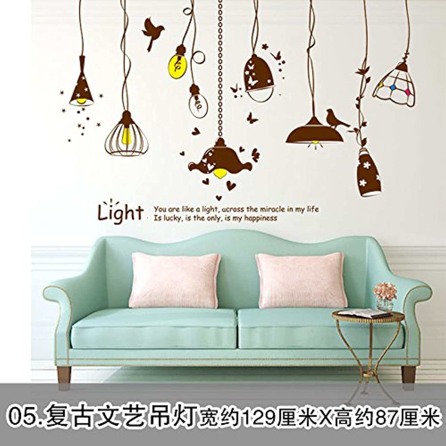 Znzbzt The bedrooms are Creative Personalized Wall Stickers 3D Posters Wall Decorations Posters self Adhesive, Chandeliers