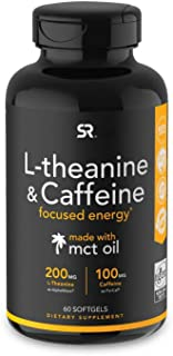 L-Theanine & Caffeine with Coconut MCT Oil ~ Nootropic Supplement for Focused Energy ~ Keto Certified & Non-GMO Verified (...
