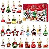 Tomaibaby Calendario de Adviento 2020 Árbol de Navidad Calendario de Adviento   24 Piezas de Estilo Único de Navidad Adornos Colgantes Decoración del Árbol de Navidad Calendario de Cuenta