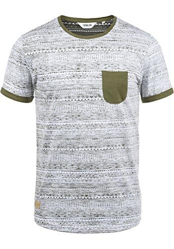 !Solid Ingo Herren T-Shirt Kurzarm Shirt Mit Rundhalsausschnitt und Inka-Print Aus 100% Baumwolle, Größe:L, Farbe:Ivy Green (3797)