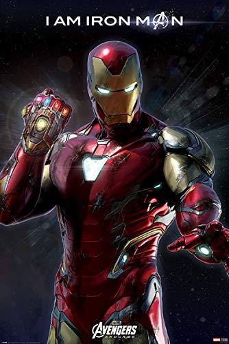 1art1 Los Vengadores - Endgame I Am Iron Man Póster (91 x 61cm)