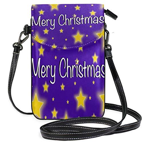 Tarjeta de estrella de Navidad para teléfono celular, monedero para mujeres y...
