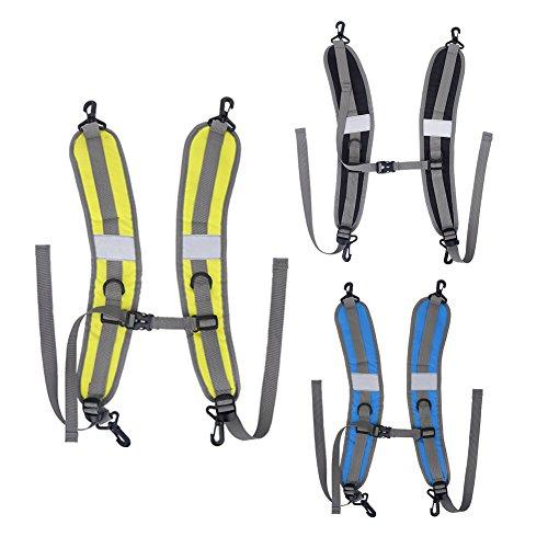 VGEBY1 Pack Schultergurt, 1 Paar Umzugsgurte Nylon Robuster Rucksack Schultergurt Ersatz für Wandern und Joggen(Gelb)