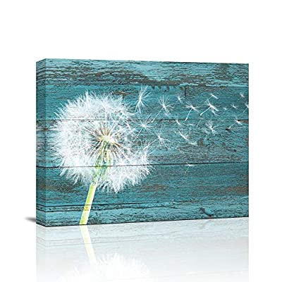 """Canvas Wall Art Abstract Dandelion Life Painting 12"""" x 16""""Pieces Framed Canvas Pictures Watercolor Prints Contemporary Canvas Artwork Ready to Hang for Home Decoration Kitchen Office Wall Decor"""
