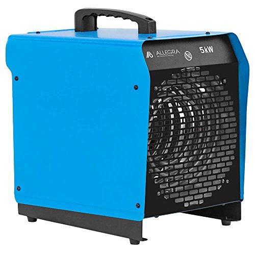 ALLEGRA H51 Heizlüfter 5 KW Elektroheizer Heizgerät Bauheizer mit Thermostat und ca. 1,5m Zuleitung