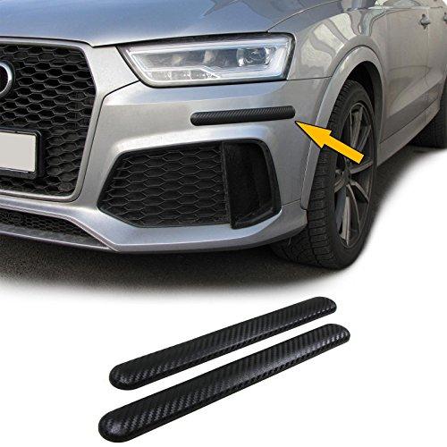 Carparts-Online 28687 Stoßstangen Schutz Streifen flexibel zum kleben universal 306x35mm Carbon mit STRUKTUR