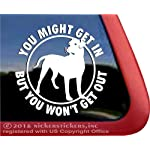 NickerStickers You Might Get in, But You Won't Get Out Vinyl Dogo Argentino Dog Vinyl Window Decal 2