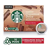 Starbucks Cinnamon Dolce Flavored Blonde Light Roast Single Cup Coffee for Keurig Brewers, 6 Boxes...
