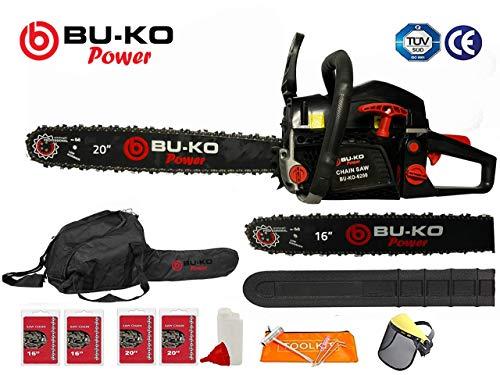 BU-KO 62cc Petrol Chainsaw 3.4HP 20' Bar & 2 x Chains + 16'...