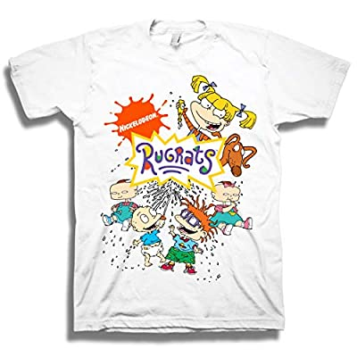 Nickelodeon Men's 90's Classic T-Shirt - Rugrats, Hey Arnold, All That - Vintage Throwback Tee (Small, Rugrats/White) from Freeze
