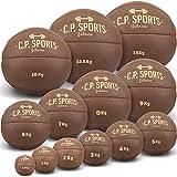 C.P.Sports Bad Company K5 - Balón medicinal (piel, 0,5 kg, 1 kg, 2 kg, 3 kg, 4 kg, 5 kg, 6 kg, 7 kg, 8 kg, 9 kg, 10 kg, 12,5 kg, 15 kg), color marrón