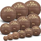 C.P.Sports Medizinball Leder braun K5, Gewichtsball, Original Medizinbälle, Crossfit Ball, Gymnastikball - 0,5 kg, 1 kg, 2 kg, 3 kg, 4 kg, 5 kg, 6 kg, 7 kg, 8 kg, 9 kg, 10 kg, 12,5 kg, 15 kg (0,5-KG)